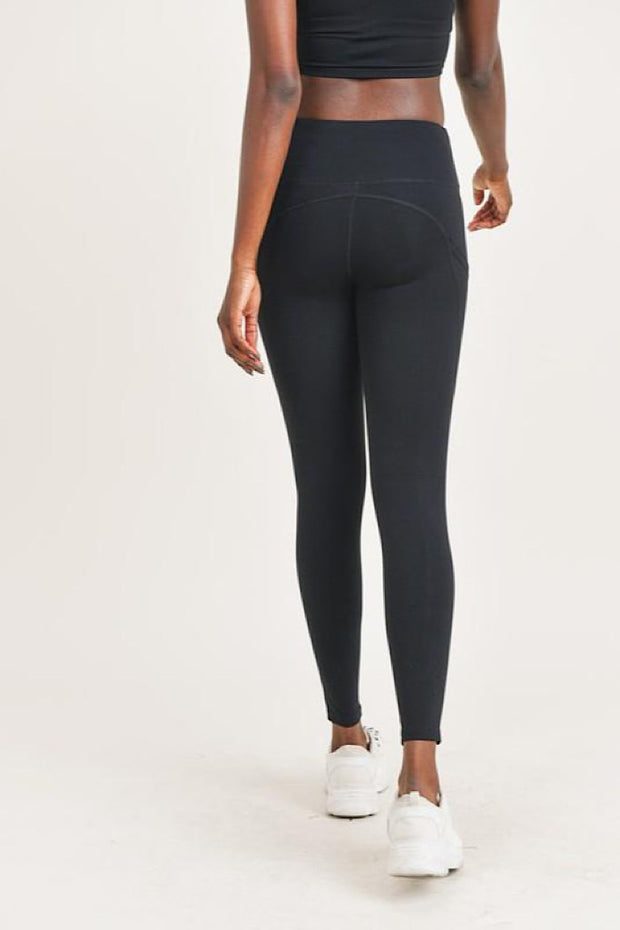 Tie-Front Highwaist Leggings with Pockets