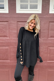 Cashmere Feel Black Oversized Cut Out Detail Sweater