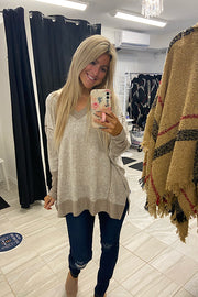 Taupe Soft Dreams Boho Top