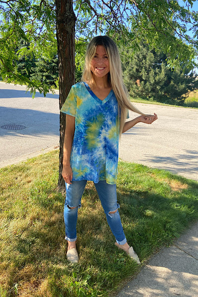 Dynamic Tie Dye Top