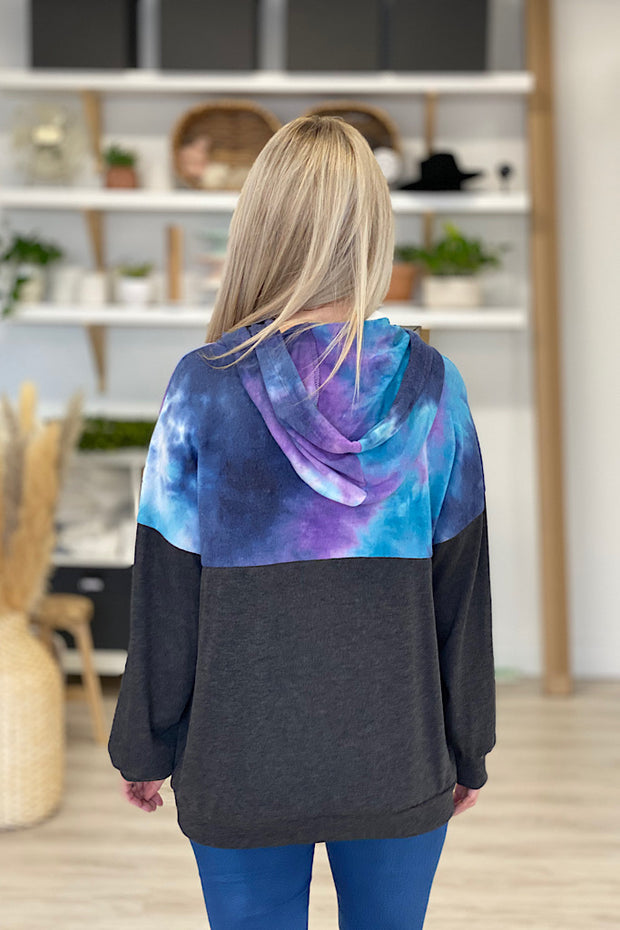Tie dye Colour Block Adventure Hoodie