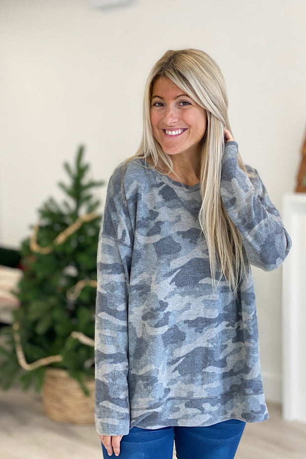 Camo Soft Brushed Dreamer Top