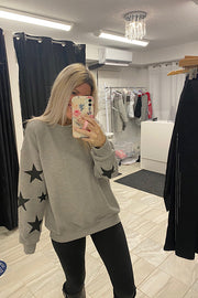 Star Perfection Printed Sweatshirt