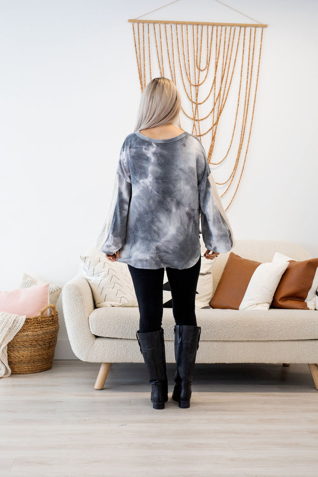 Charcoal Over You Tie Dye Top