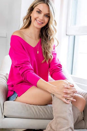 Cozy Pretty In Pink Sweater
