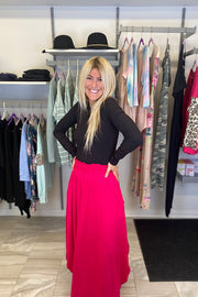 Classic Fuchsia Head Over Heels Maxi Skirt