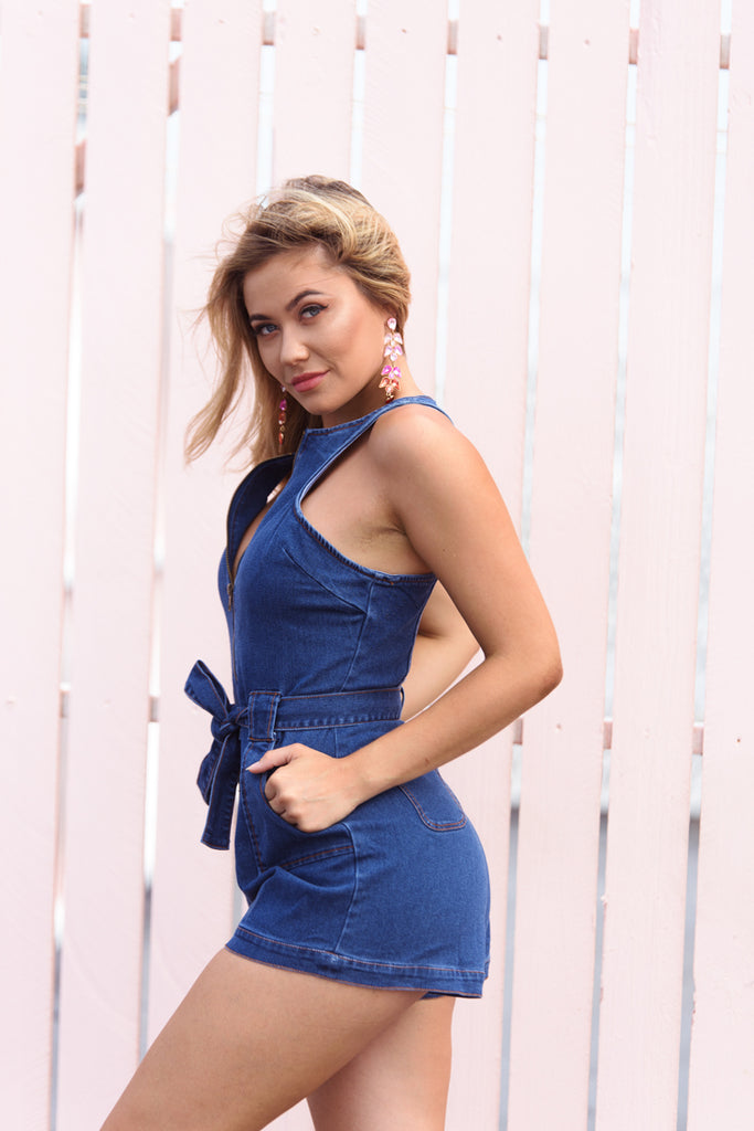 DENIM FOR DAYS PLAYSUIT