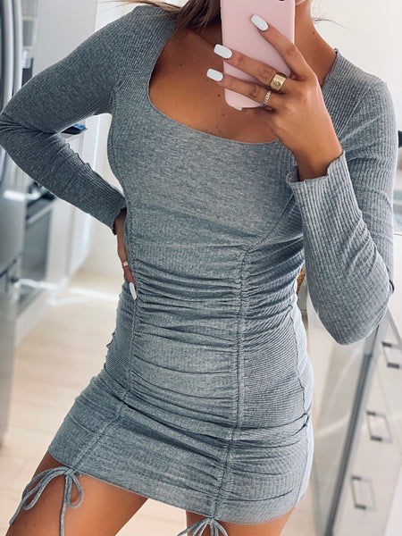 MILANA DRESS - GREY