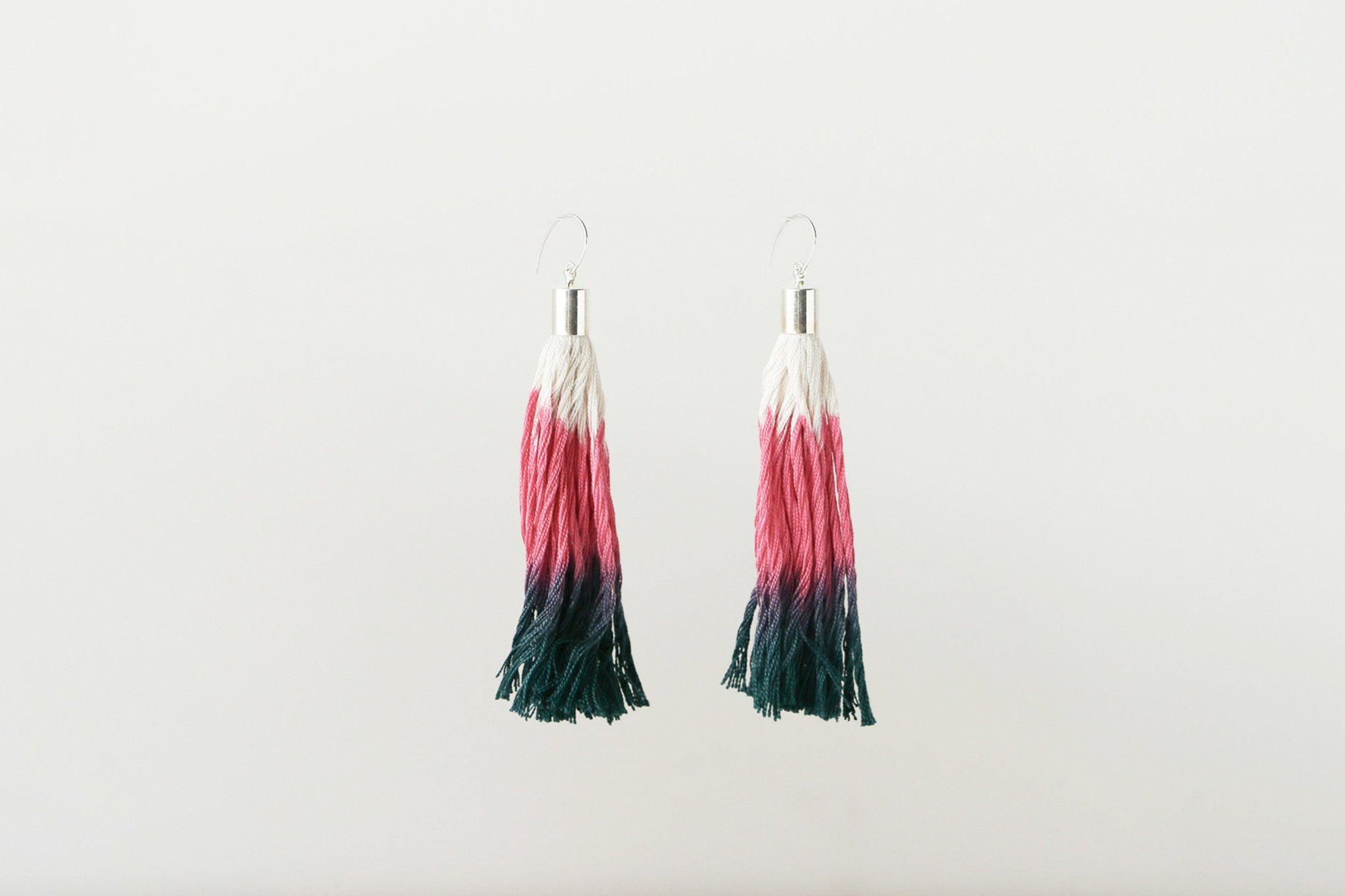 Tassel Earrings (Tri-Colour)