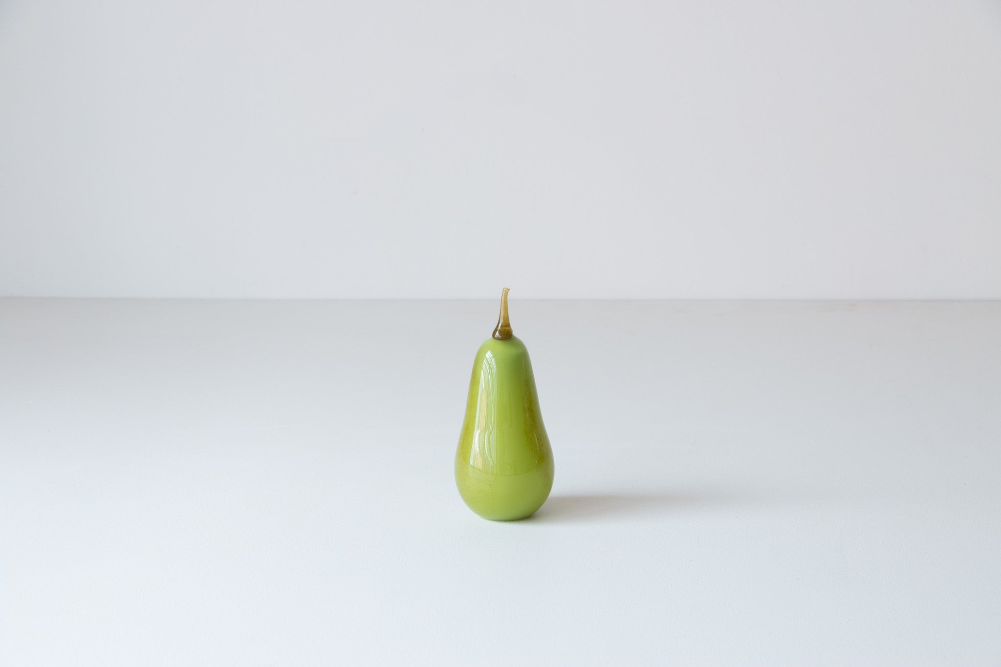Glass Pear and Plum