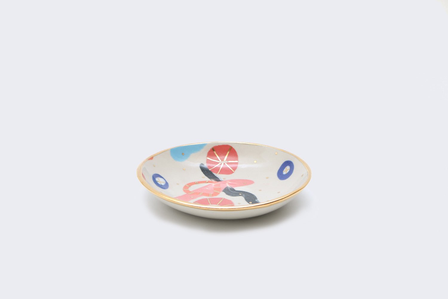 Gold Lustre Bowl Medium (Black/Blue/Red)