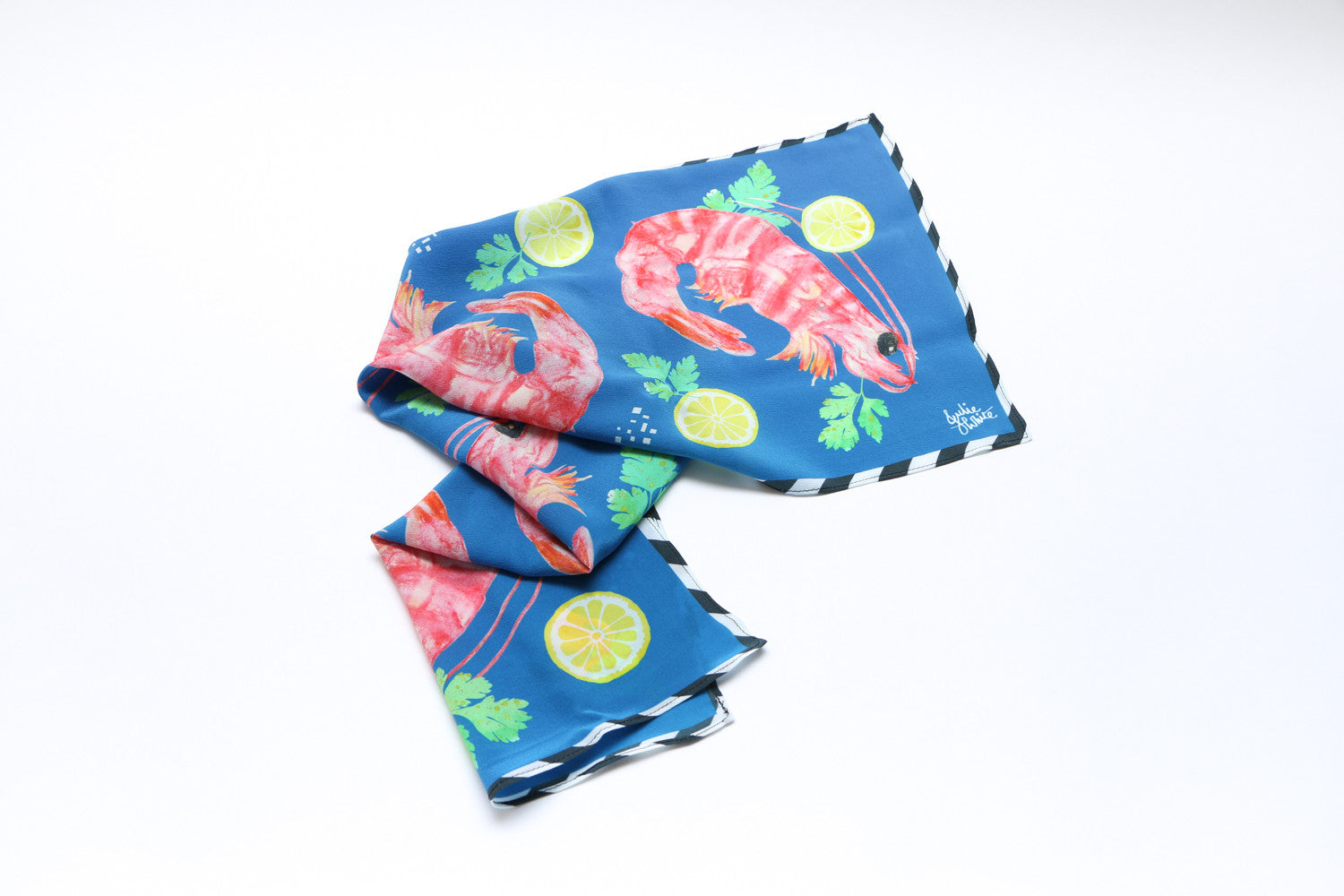 Prawn Cocktail Silk Scarf