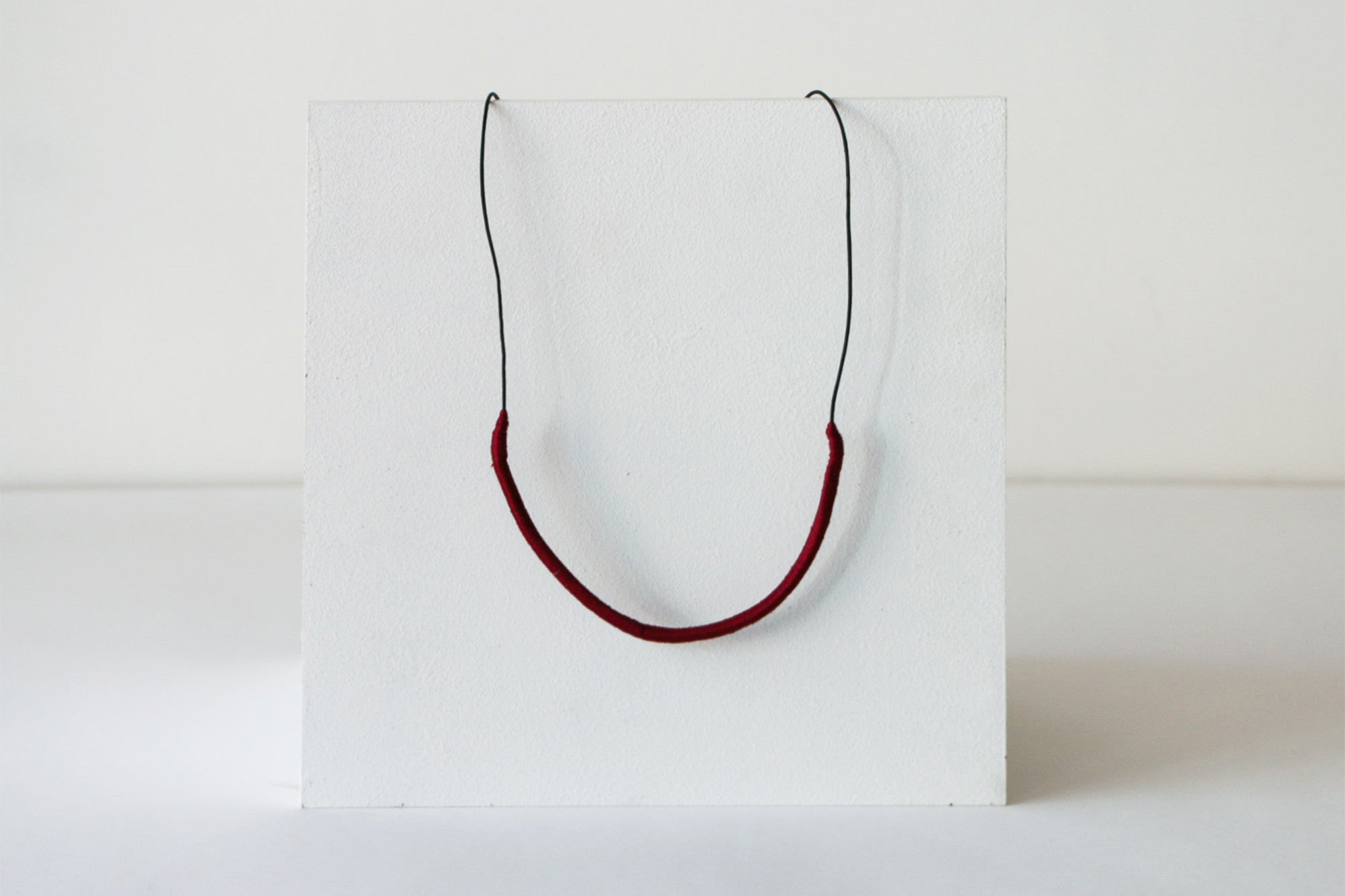 Wrapped Thread Necklace