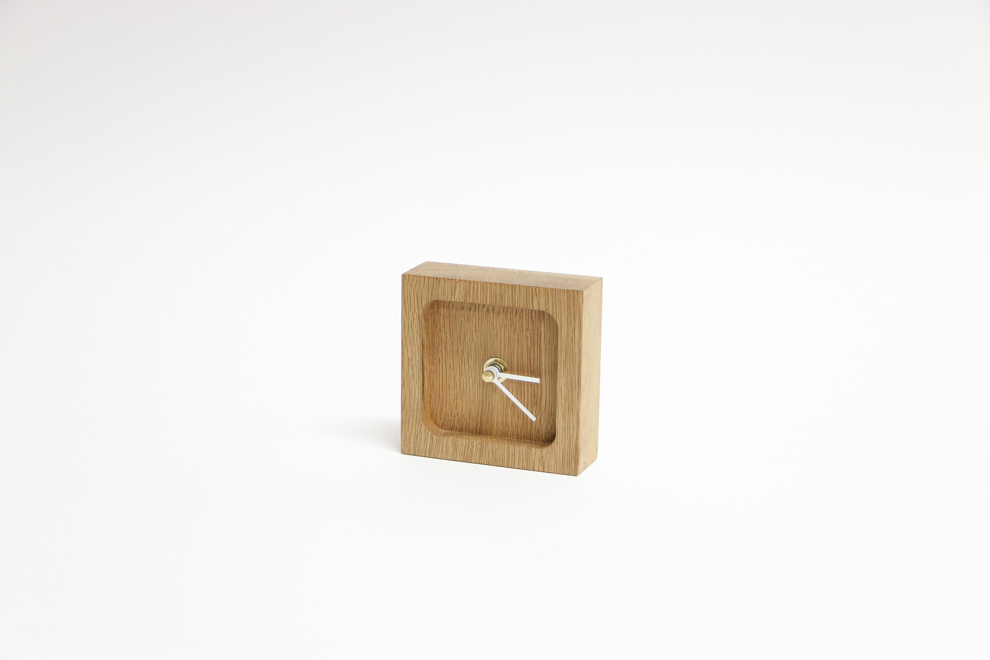 Timber Desk Clock
