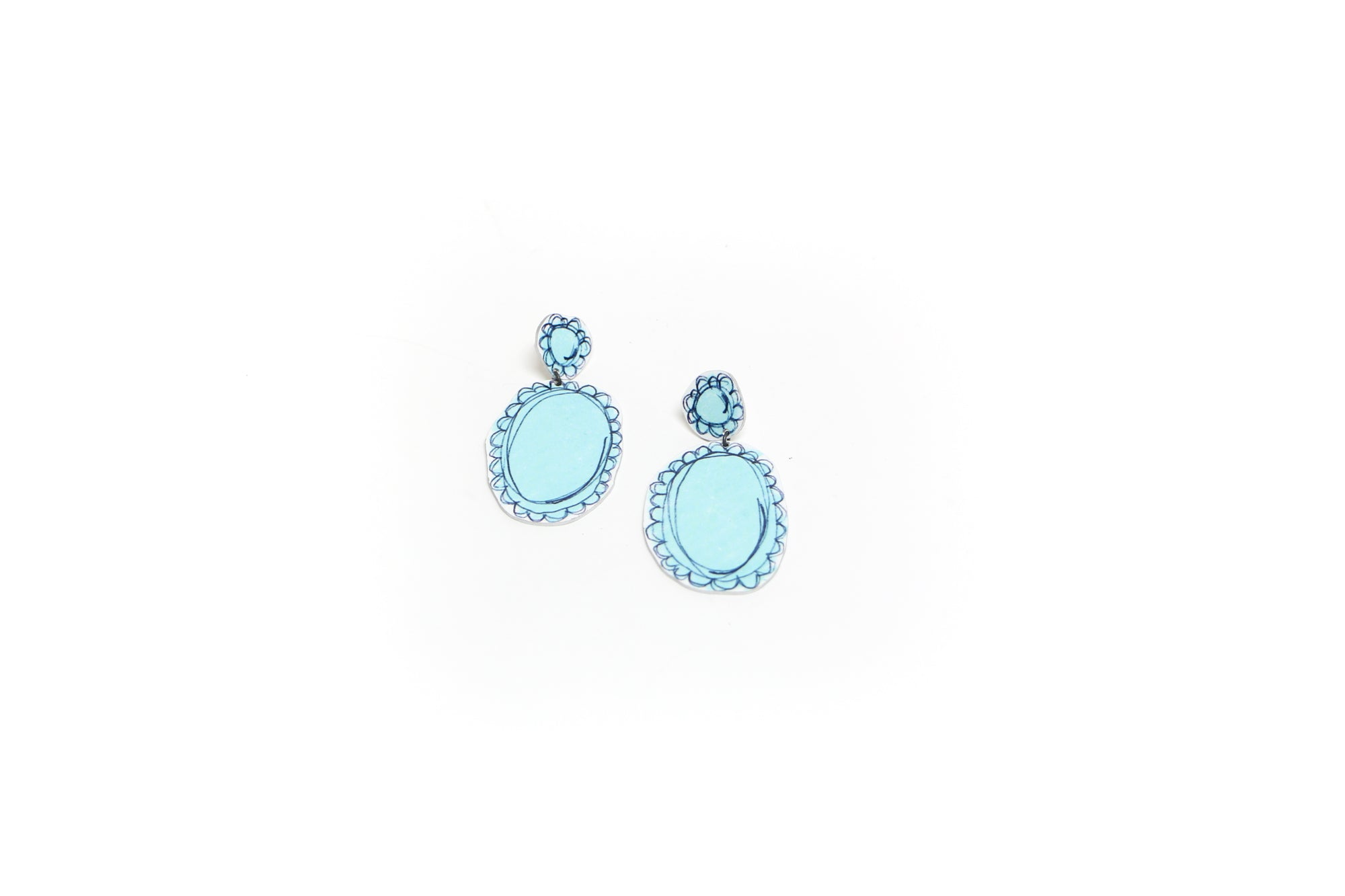 Royalty Earrings Duck Egg Blue