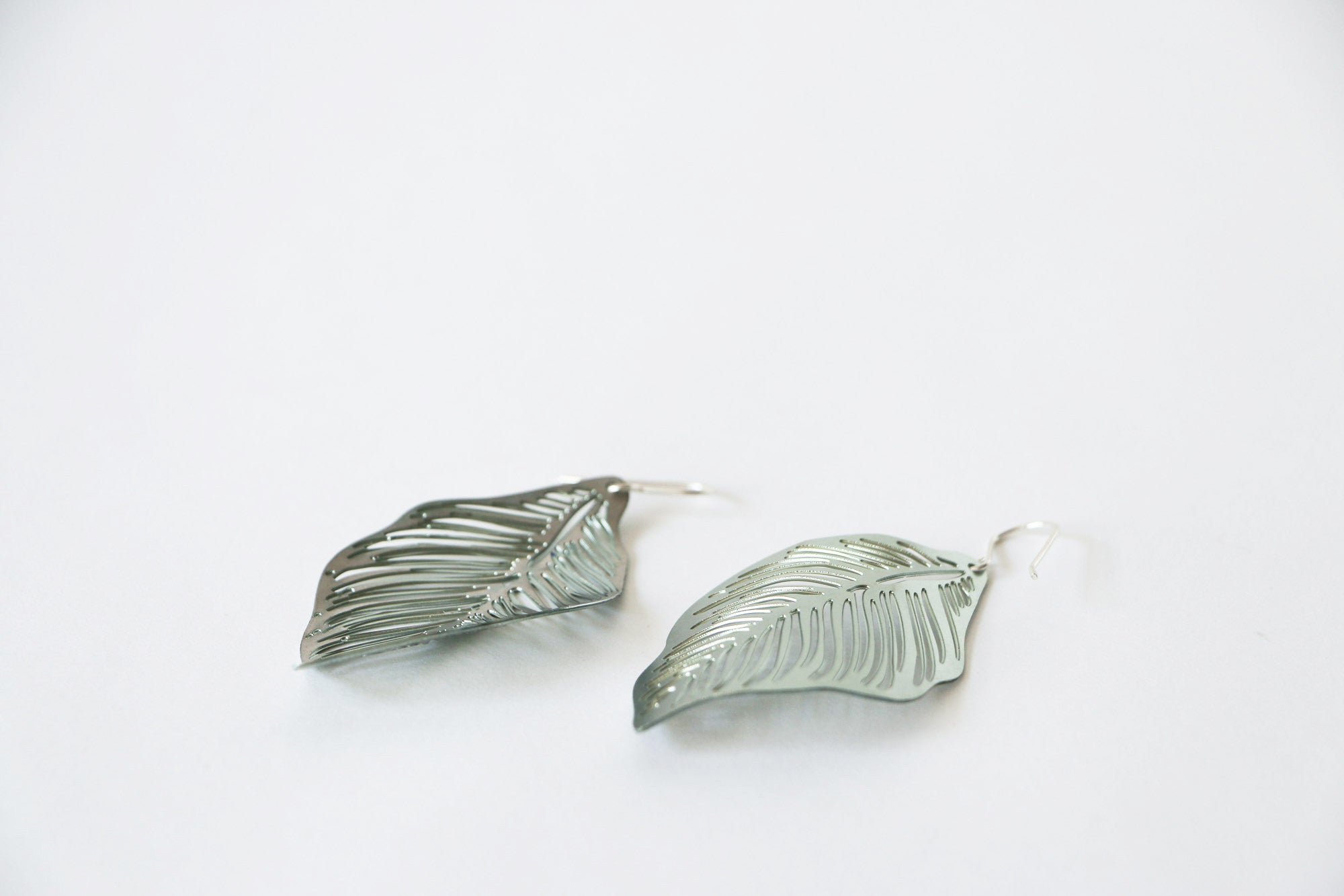 Forest Floor Single Leaf Earrings