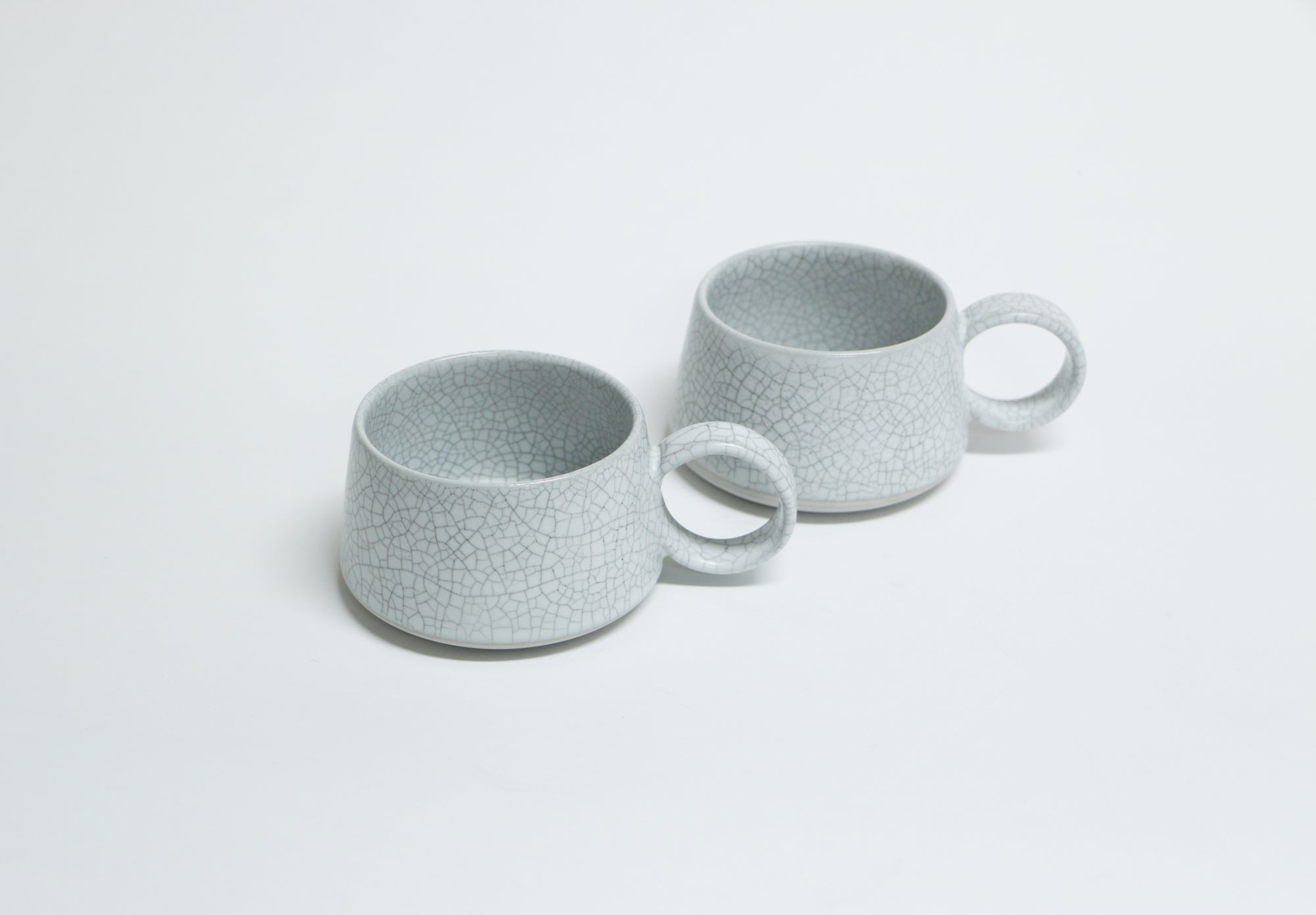 Crackle Mug with Handle