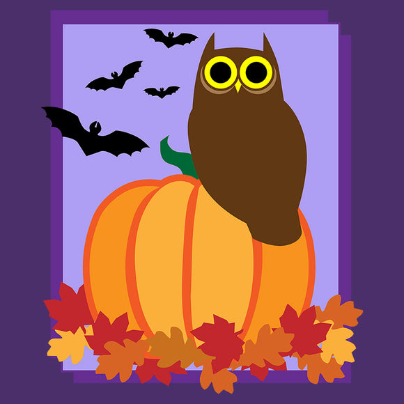Autumn Pumpkin Owl