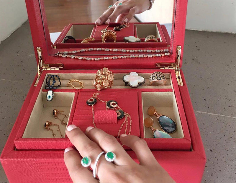 Palermo Small Jewelry Box with Adriana Fine Jewelry