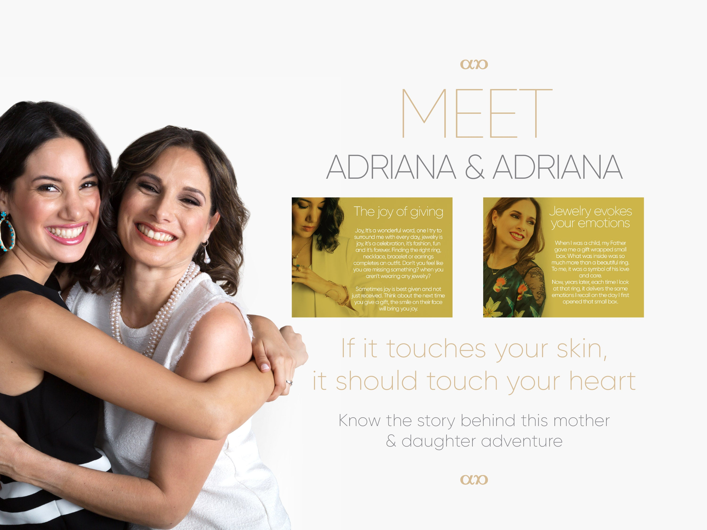 Meet Adriana & Adriana - If it touches your skin, it should touch your heart - Know the story behind this mother and daughter adventure