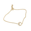 14K Diamond Circle Bracelet Rose Gold