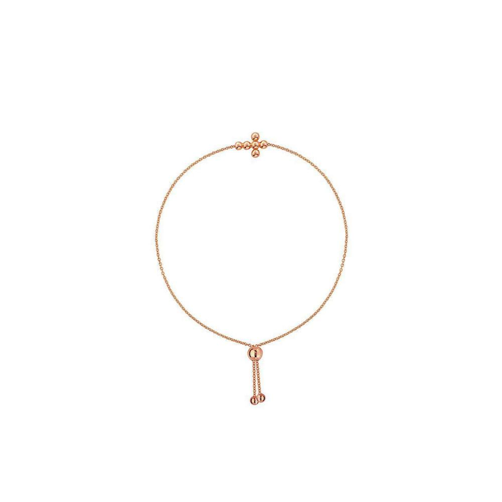 14K Rose Gold Cross Bracelet
