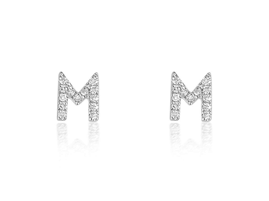 14K White, Yellow or Rose Gold Single or Pair Earrings with Diamonds