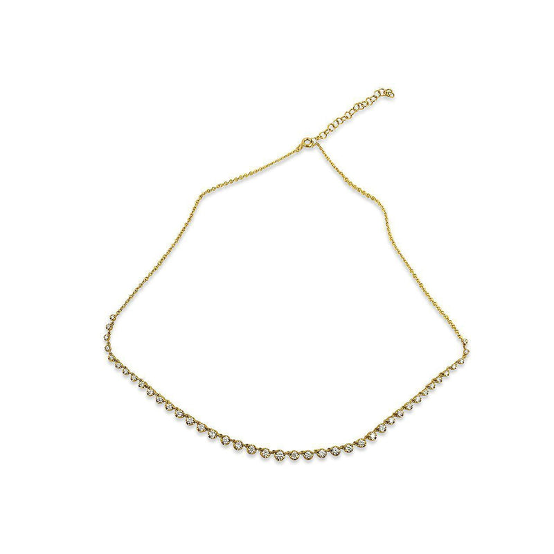 14K Yellow Gold & Diamonds Necklace