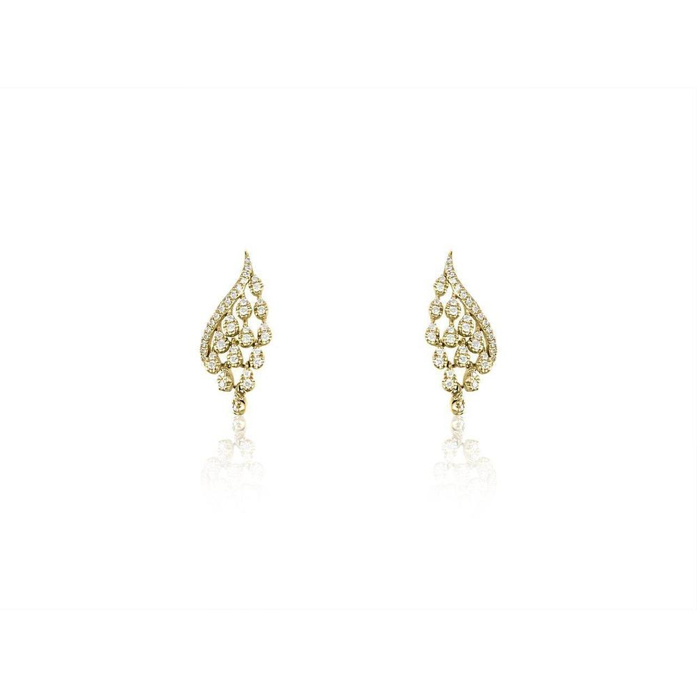 14K Yellow Gold Earrings with Diamonds
