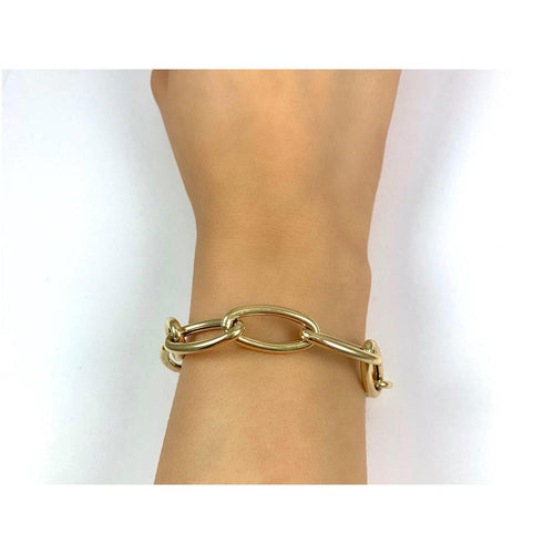14K Yellow Gold Link Chain Bracelet