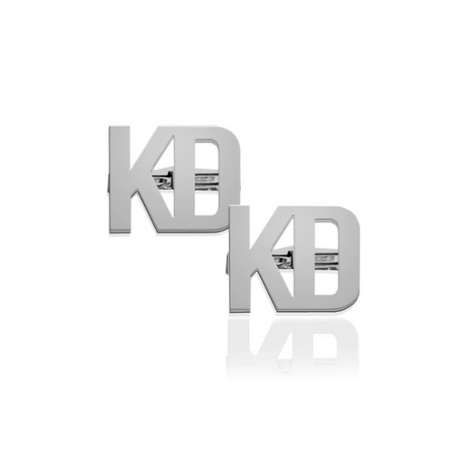 2 Letter Block Monogram 14K Gold Cufflinks