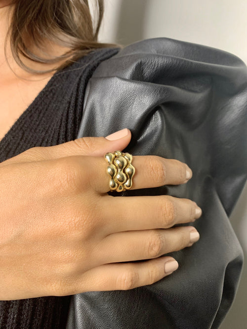 Bubble Ring 14K Yellow Gold