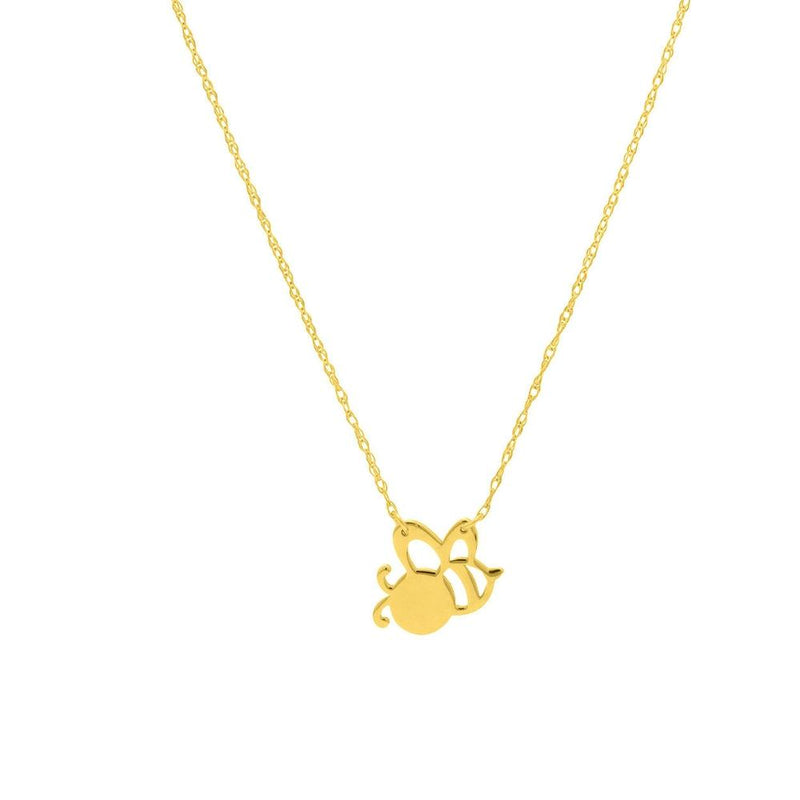 14K Yellow Gold Bee Necklace - Gifts under $200