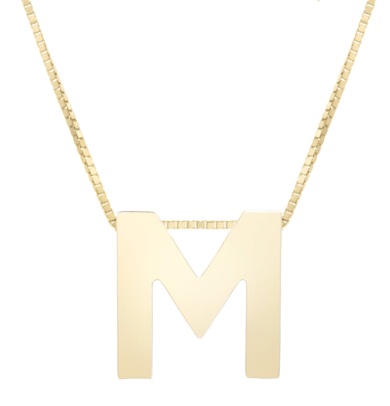 "14K Yellow Gold Necklace crafted with ""M"" Initial"
