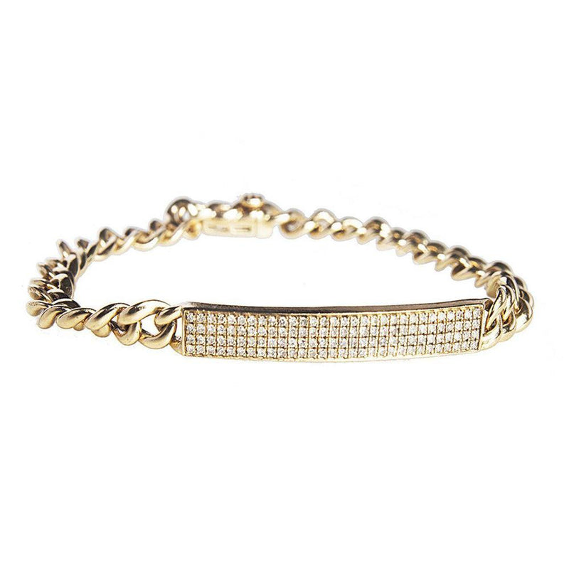 14K Yellow Gold Bracelet with Diamonds
