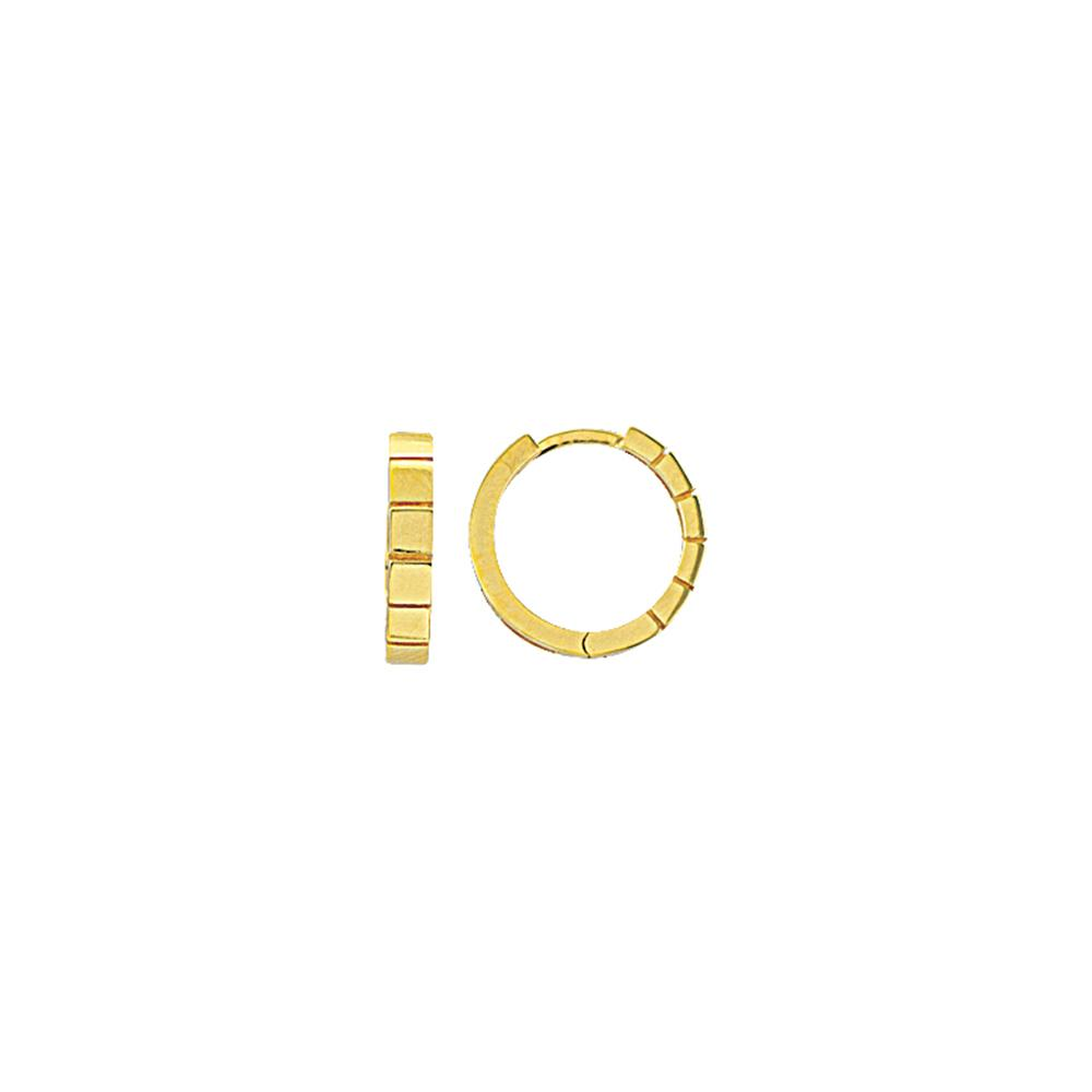 Squared Mini Huggie Hoops 14K Gold