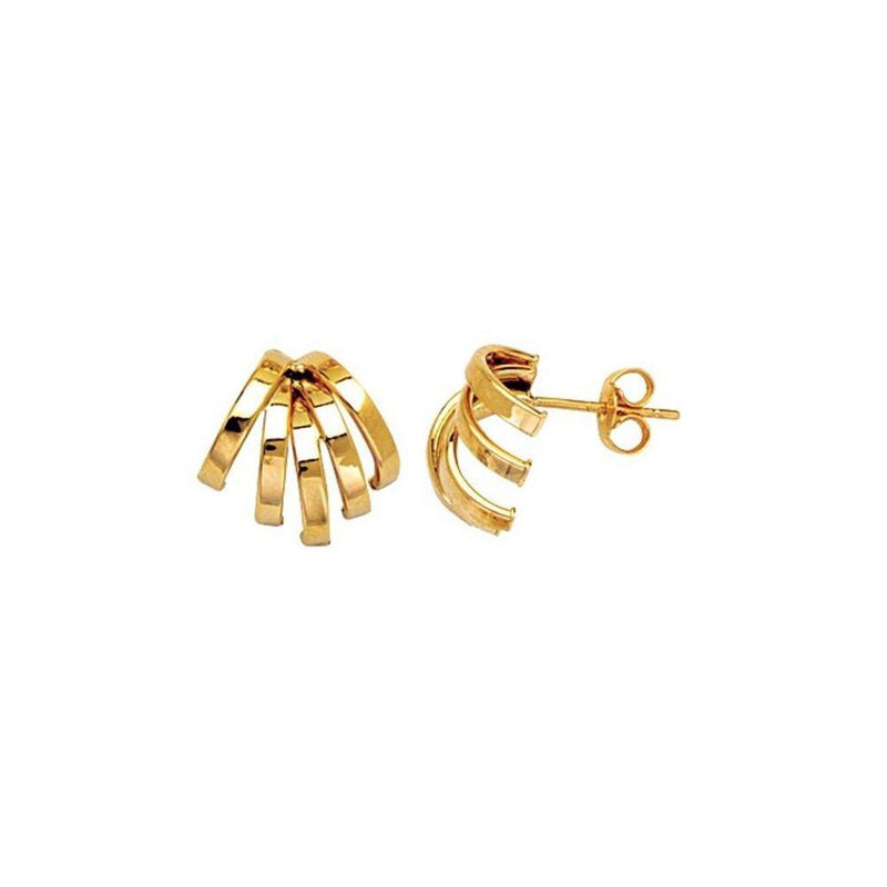 Tube Fancy Spread 14K Yellow, White & Rose Gold Earrings