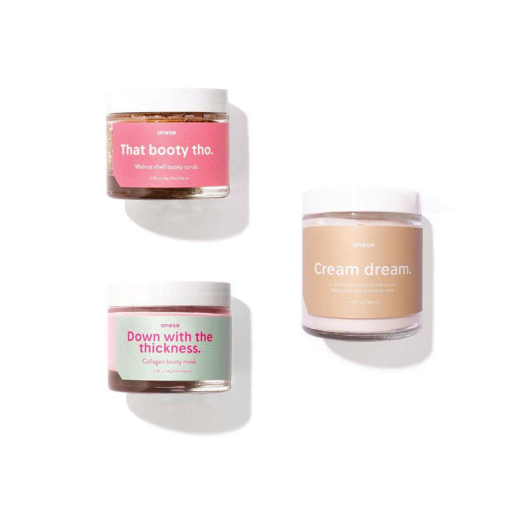 In your booty dreams set. Booty scrub + Booty mask + Booty cream Anese