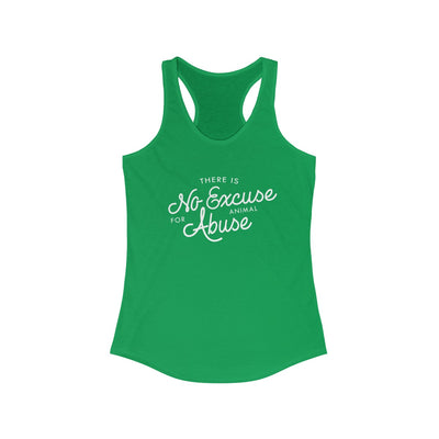 There's No Excuse For Animal Abuse Racerback Tank - 6 Colors