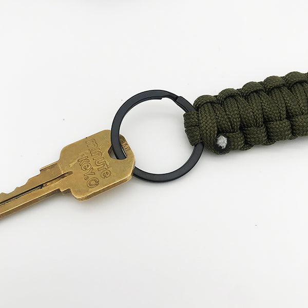 Army Green Paracord Key Chain