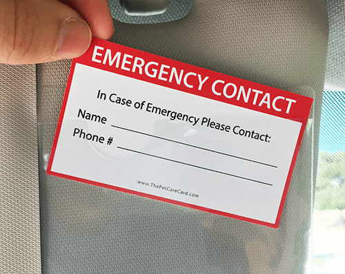 ICE Contact Card for Your Car