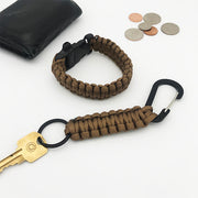 Deep Brown Paracord Key Chain + Bracelet