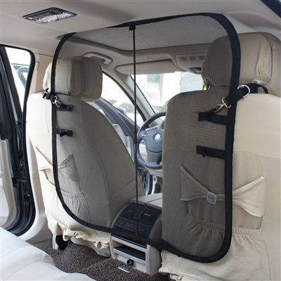 Dog Car Barrier >> Front Seat Pet Safety Net Barrier for the Car – The Pet Care Card