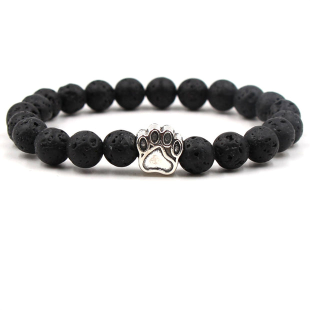 Walk With Me Lava Stone Bracelet