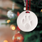 Make Your Own Paw Print Round Ornament