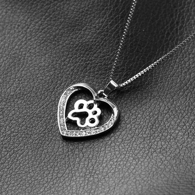 Paws of My Heart Necklace
