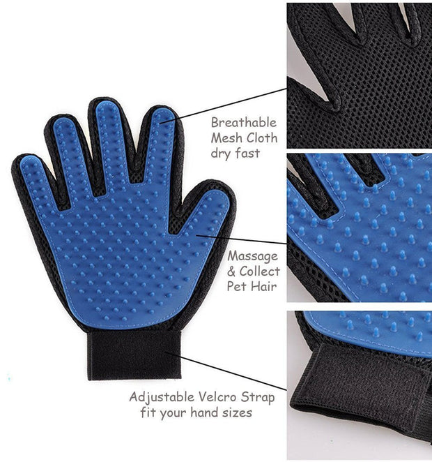 Pet Grooming and Massaging Glove