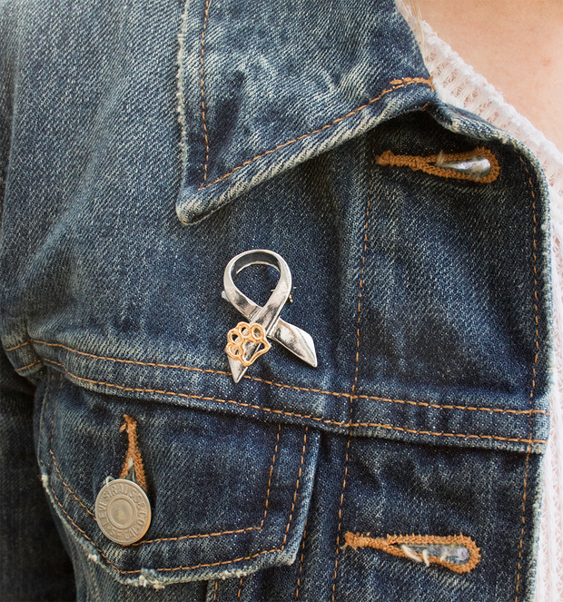 """Stand Against Animal Abuse"" Awareness Pin"