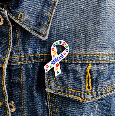 Rescue Them Colorful Pin