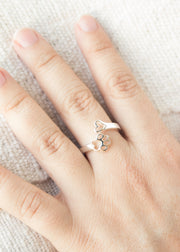 Heart and Paw Adjustable Ring